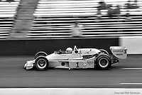HAMPTON, GA - APRIL 22: Tom Sneva drives his McLaren M24/Cosworth TC during the Gould Twin Dixie 125 event on April 22, 1979, at Atlanta International Raceway near Hampton, Georgia.