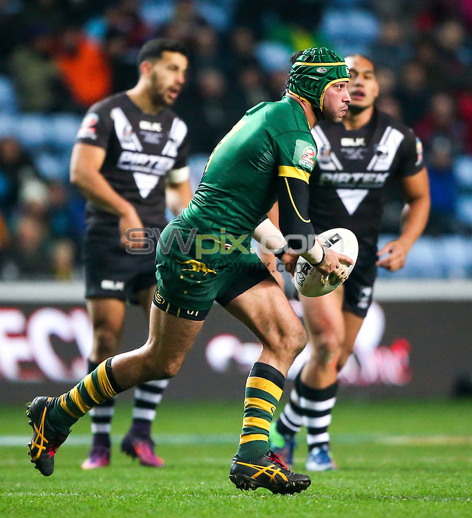 Picture by Alex Whitehead/SWpix.com - 05/11/16 - Rugby League - 2016 Ladbrokes Four Nations - New Zealand v Australia - Ricoh Arena, Coventry, England - Australia's Johnathan Thurston.