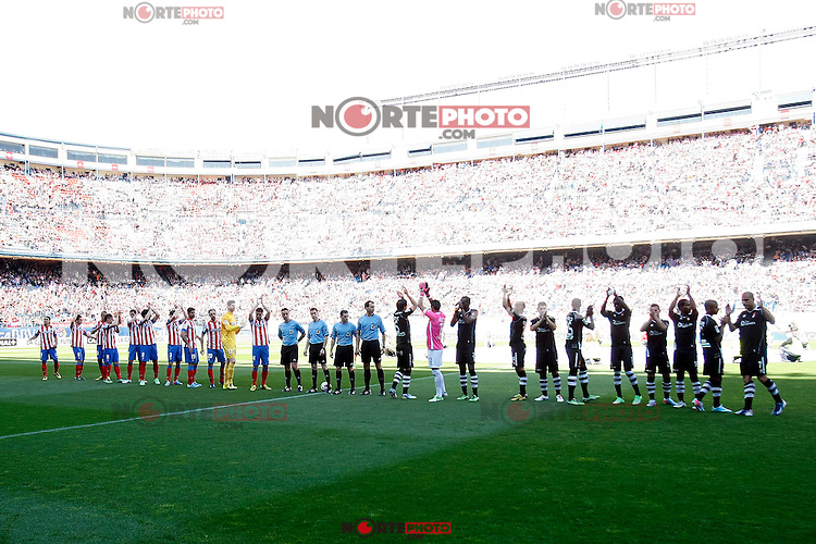 Atletico's team and Granada's team during La Liga BBVA match. April 14, 2013.(ALTERPHOTOS/Alconada)