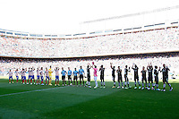 Atletico's team and Granada's team during La Liga BBVA match. April 14, 2013.(ALTERPHOTOS/Alconada)