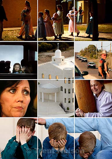 Scenes from the raid on the FLDS YFZ Ranch in Texas