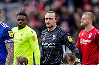 1st February 2020; St Andrews, Birmingham, Midlands, England; English Championship Football, Birmingham City versus Nottingham Forest; Lee Camp of Birmingham City walks out to start the game