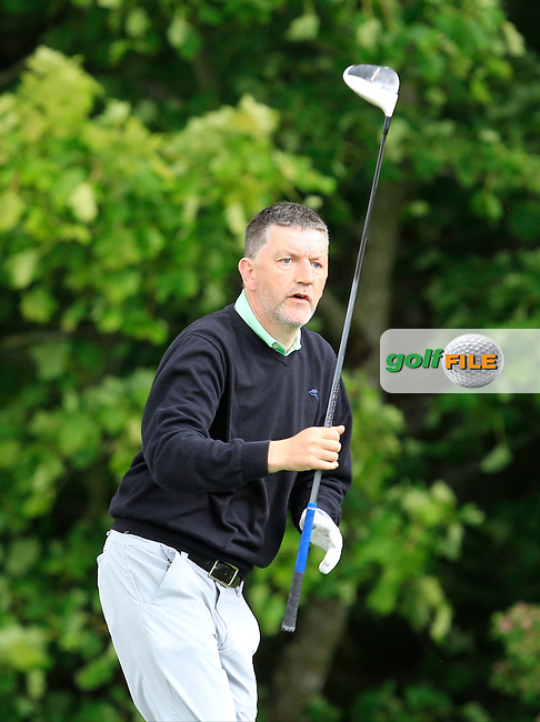 Dara Bruen (Castlerea) on the 14th tee during Round 2 of the Irish Mid-Amateur Open Championship at New Forest on Saturday 20th June 2015.<br /> Picture:  Thos Caffrey / www.golffile.ie