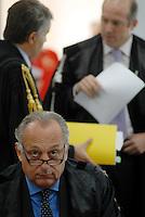 L'Aquila. la seconda udienza del processo alla commissione grandi rischi.1° ottobre 2011. L'avvocato dello stato Carlo Sica, difensore della presidenza del consiglio.