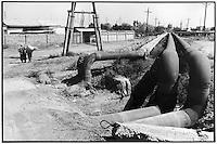 Uzbekistan - Water pipeline which conveys Amu Darya's water into the biggest Uzbek hydroelectric complex near Takiatash.