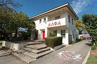 The Occidental College Alpha Lambda Phi Alpha house at 4549 Alumni Ave. on Feb. 21, 2013.<br /> (Photo by Marc Campos, Occidental College Photographer)