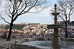 Blick auf das Castelo de Sao Jorge und die Altstadt, Lissabon, Portugal