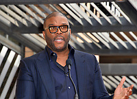 LOS ANGELES, CA. February 21, 2020: Tyler Perry at the Hollywood Walk of Fame Star Ceremony honoring Dr Phil McGraw.<br /> Pictures: Paul Smith/Featureflash