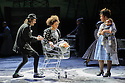 """""""wonder.land"""", a new musical inspired by Lewis Carroll's """"Alice in Wonderland"""", created by Damon Albarn, Moira Buffini and Rufus Norris, opens at the National Theatre, in the Olivier. Picture shows: Lois Chimimba (Aly), Paul Hilton (Matt - Aly's Dad), Golda Rosheuvel (Bianca - Aly's Mum)"""