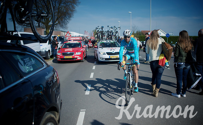Vincenzo Nibali (ITA/Astana) finding his way to the teambus post-race<br /> <br /> 50th Amstel Gold Race 2015