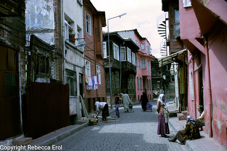 Backstreet in the Sultanahmet district of Istanbul, Turkey
