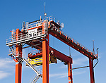 Kalmar Crane - Kalmar container stacking mobile crane at the North Fremantle container port, Western Australia