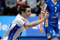 GRONINGEN - Volleybal, Abiant Lycurgus - Zaanstad, Alfa College , Eredivisie , seizoen 2017-2018, 28-10-2017 Lycurgus speler Daan Nieboer