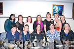 Having fun celebrating little womans Christmas last Saturday night in Sethu Indian, Killorglin,were front l-r: Patricia Kelliher, Francis Clifford, Ursula Flynn, Lorraine Fleming and Paula Courtney. Back l-r: Tracey Breen, Breda Nugent, Caroline Burke, Kate Gosney, Liz Tagney, Ann O'Brien and Katherine Courtney.
