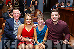 Fiona Kavanagh celebrating her 21st birthday in Benners Hotel on Friday night.<br /> L-r, Conor and Fiona Kavanagh, Niamh O'Sullivan and David Kavanagh.