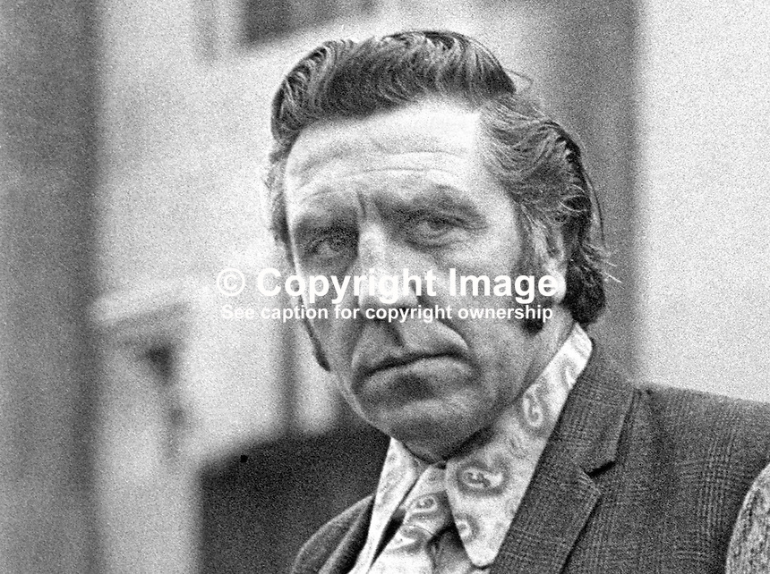 Charles Harding-Smith, joint chairman, UDA, Ulster Defence Association, N Ireland. 197305010238.<br /> <br /> Copyright Image from Victor Patterson, 54 Dorchester Park, Belfast, UK, BT9 6RJ<br /> <br /> t1: +44 28 9066 1296 (from Rep of Ireland 048 9066 1296)<br /> t2: +44 28 9002 2446 (from Rep of Ireland 048 9002 2446)<br /> m: +44 7802 353836<br /> <br /> e1: victorpatterson@me.com<br /> e2: victorpatterson@gmail.com<br /> <br /> The use of my copyright images is subject to my Terms &amp; Conditions.<br /> <br /> It is IMPORTANT that you familiarise yourself with them. They are available on my website at www.victorpatterson.com.<br /> <br /> None of my copyright images may be used on a website unless they are visibly watermarked, i.e. &copy; Victor Patterson within the body of the visible image. Metadata denoting my copyright must NOT be deleted. <br /> <br /> Web use (maximum size - 300 kb) is extra at currently recommended NUJ rates.