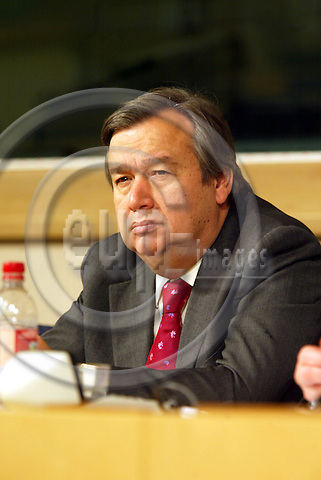 BRUSSELS - BELGIUM - 05 FEBRUARY 2004--Socialist International President Antonio GUTERRES.  PHOTO: ERIK LUNTANG / EUP-IMAGES.COM