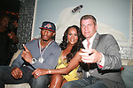 "Omar ""Slim"" White, Vivica A. Fox and Tom Murrow Attend Vivica A. Fox Hosts Private Celebration for the 31st Birthday of Publicist BJ Coleman and the Launch of www.burgersandbourbon.com Sponsored by Pisco Portón,  at The Marcel Hotel's Polar Lounge, NY 8/25/11"