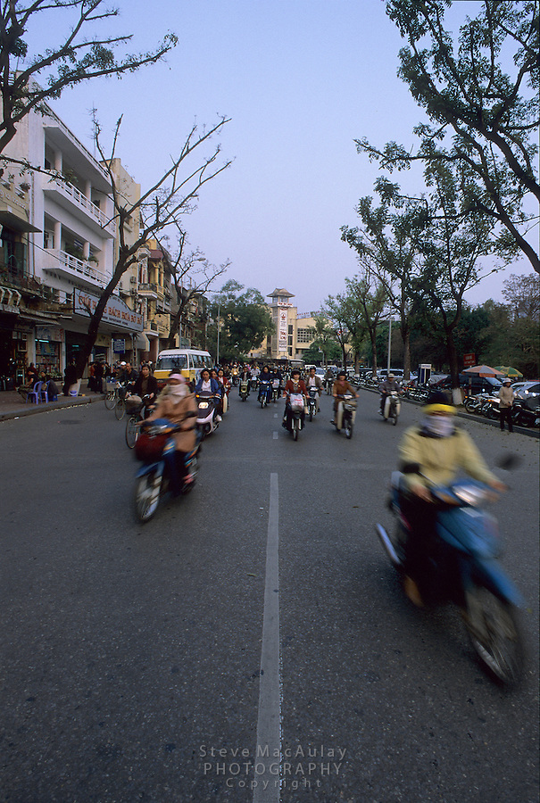 Dodging traffic like the locals, Hanoi, Vietnam