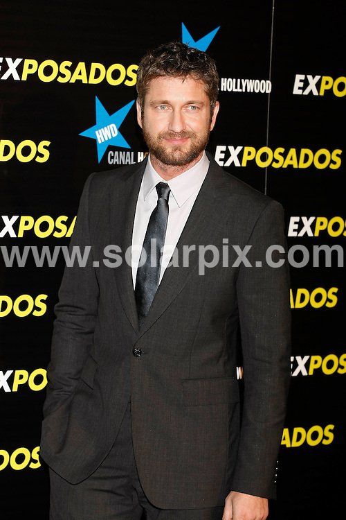 **ALL ROUND PICTURES FROM SOLARPIX.COM**.**UK SYNDICATION RIGHTS ONLY**.Arrivals for the gala screening of the new film The Bounty Hunter aka Exposados in Spanish. Madrid, Spain. 30 March 2010...This pic: Gerard Butler..JOB REF: 11015 SKX      DATE:  30_03_2010.**MUST CREDIT SOLARPIX.COM OR DOUBLE FEE WILL BE CHARGED**.**MUST NOTIFY SOLARPIX OF ONLINE USAGE**.**CALL US ON: +34 952 811 768 or LOW RATE FROM UK 0844 617 7637**