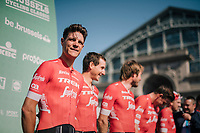 Jasper Stuyven (BEL/Trek-Segafredo) at the team presentation<br /> <br /> 98th Brussels Cycling Classic 2018<br /> One Day Race:  Brussels &gt; Brussels (201km)