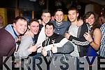 David McSweeney, Shane Breen, Jonny Howson, Derek Mayee, Gordon Buckley, Jake O'Donoghue and Rachel Stapleton (all from Killarney) enjoying the New Year's Eve celebrations in the Killarney Plaza hotel on Tuesday night.