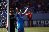 Carson, California - Sunday April 9, 2014: The LA Galaxy defeated Chivas USA 3-0 in a Major League Soccer (MLS) match at StubHub Center stadium.