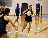 06.10.2014 Silver Fern Jodi Brown in action at the Silver Ferns training ahead of the netball test match againt Australia in Melbourne. Mandatory Photo Credit ©Michael Bradley.