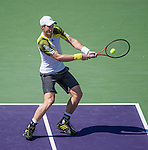 Andy Murray (GBR) defeats Marin Cilic (CRO) 6-4, 6-3, at the Sony Open being played at Tennis Center at Crandon Park in Miami, Key Biscayne, Florida on March 28, 2013