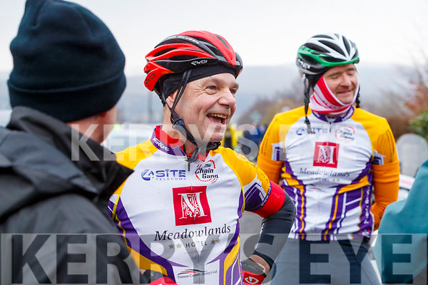 Richie O'Sullivan and Terry McDonnell of the Chaingang Cycling Club pictured at the Lacey Cup Cycle on Sunday morning last.