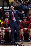 Louisville Cardinals head coach Rick Pitino gives instructions to his team during first half action against the Wake Forest Demon Deacons at the LJVM Coliseum on January 4, 2015 in Winston-Salem, North Carolina.  The Cardinals defeated the Demon Deacons 85-76.  (Brian Westerholt/Sports On Film)