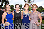 Showing their style at the Causeway Comprehensive Debs on Thursday at the Brandon Hotel were Anita Leen, Teresa Leen, Amy O'Sullivan, Jennifer Falvey.