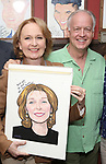 Kate Burton and Reed Birney attends the Sardi's Caricature Unveiling for Kate Burton joining the Legendary Wall of Fame at Sardi's on June 28, 2017 in New York City.