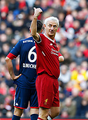 24th March 2018, Anfield, Liverpool, England; LFC Foundation Legends Charity Match 2018, Liverpool Legends versus FC Bayern Legends; Liverpool Legends player-manager Ian Rush gives directions to team mates