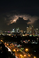 Lightning storms over Metro Manila, Philippines