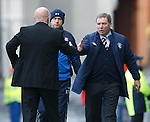 Ally McCoist congratulates Peter Houston at the final whistle