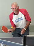 Bob Peterson plays ping pong at the Carson City Senior Citizen Center in Carson City, Nev., on Wednesday, Aug. 22, 2012..Photo by Cathleen Allison