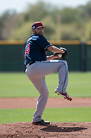 Cleveland Indians starting pitcher Sean Brady (54) during a Minor League Spring Training game against the San Francisco Giants at the San Francisco Giants Training Complex on March 14, 2018 in Scottsdale, Arizona. (Zachary Lucy/Four Seam Images)