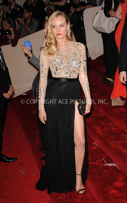 WWW.ACEPIXS.COM . . . . . ....May 2 2011, New York City....Diane Kruger arriving at the 'Alexander McQueen: Savage Beauty' Costume Institute Gala at The Metropolitan Museum of Art on May 2, 2011 in New York City. ....Please byline: KRISTIN CALLAHAN - ACEPIXS.COM.. . . . . . ..Ace Pictures, Inc:  ..(212) 243-8787 or (646) 679 0430..e-mail: picturedesk@acepixs.com..web: http://www.acepixs.com