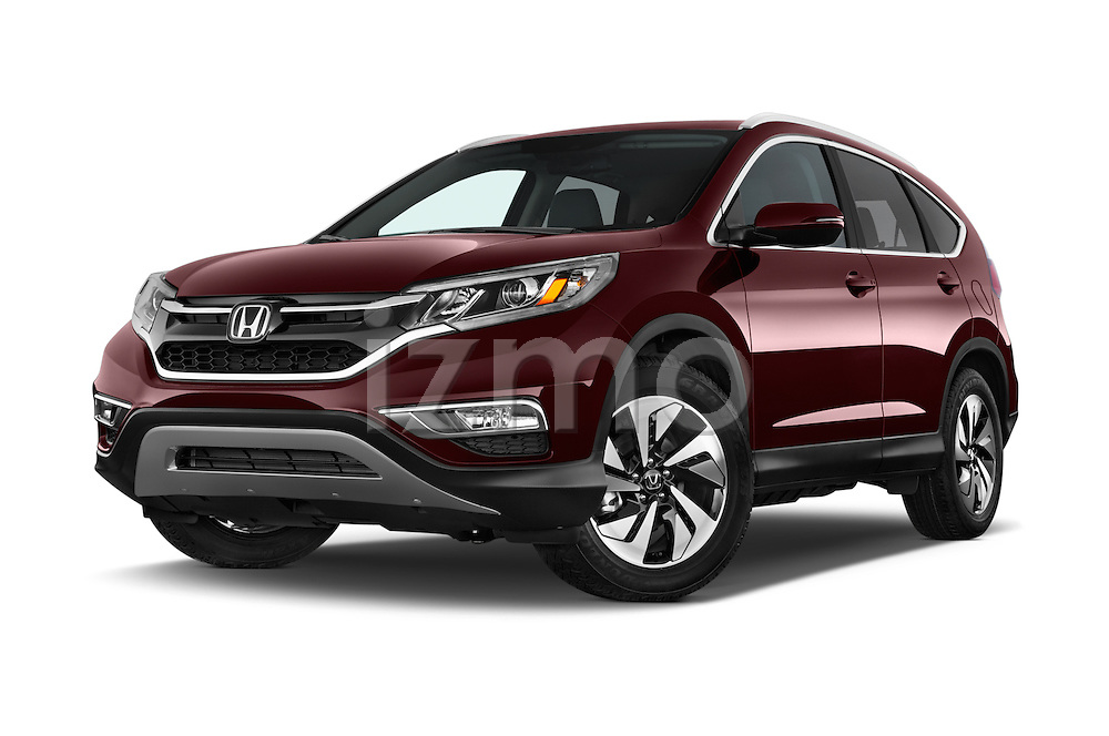 Stock pictures of low aggressive front three quarter view of a 2015 Honda Cr-V Touring 5 Door Suv 2WD Low Aggressive
