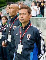 Norio Sasaki. The USWNT defeated Japan, 2-0,  at WakeMed Soccer Park in Cary, NC.