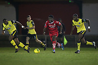 Nana Boakye-Yiadom of Hornchurch during AFC Hornchurch vs Great Wakering Rovers, BBC Essex Senior Cup Football at Hornchurch Stadium on 4th December 2018