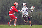 Los Angeles, CA 03/23/11 - Michael Hanover (LMU #25) and Chase Parlett (LMU #28) in action during the Illinois-LMU non conference MCLA game at Loyola Marymount University.