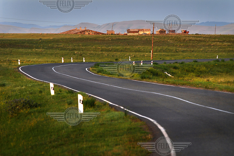 A winding road which heads towards Abakan.