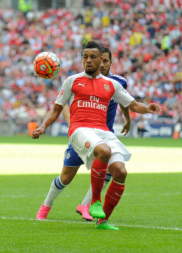 Arsenal's Francis Coquelin in action during todays match  <br /> <br /> Photographer Ashley Western/CameraSport<br /> <br /> Football - FA Community Shield - Arsenal v Chelsea - Sunday 2nd August 2015 - Wembley Stadium - London<br /> <br /> &copy; CameraSport - 43 Linden Ave. Countesthorpe. Leicester. England. LE8 5PG - Tel: +44 (0) 116 277 4147 - admin@camerasport.com - www.camerasport.com