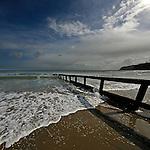 Longshore drift at Shanklin, Isle of Wight