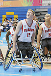 November 18 2011 - Guadalajara, Mexico:  Patrick Anderson of Team Canada looks for a rebound in the CODE Alcalde Sports Complex at the 2011 Parapan American Games in Guadalajara, Mexico.  Photos: Matthew Murnaghan/Canadian Paralympic Committee