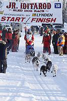 Saturday February 25, 2012   at Knik Lake during the Junior Iditarod start.  Jesse Klejka