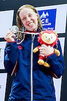 SCHMIDT Sierra USA<br /> 400 Freestyle Women Final Silver Medal<br /> Day04 28/08/2015 - OCBC Aquatic Center<br /> V FINA World Junior Swimming Championships<br /> Singapore SIN  Aug. 25-30 2015 <br /> Photo A.Masini/Deepbluemedia/Insidefoto