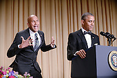 "United States President Barack Obama, right, uses actor Keegan-Michael Key from Key & Peele to play the part of ""Luther, President Obama's anger translator"" during the annual White House Correspondent's Association Gala at the Washington Hilton hotel April 25, 2015 in Washington, D.C. The dinner is an annual event attended by journalists, politicians and celebrities.<br /> Credit: Olivier Douliery / Pool via CNP"